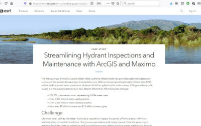 ActiveG Nash featured in Esri case study