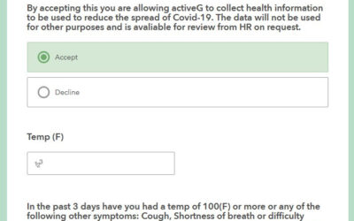 COVID-19 Employee Health Self-Reporting with Survey123 and ActiveG Nash